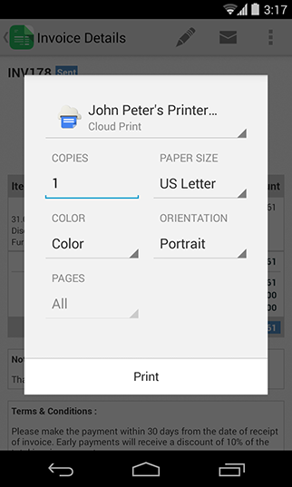 how to create an invoice on paypal mobile app