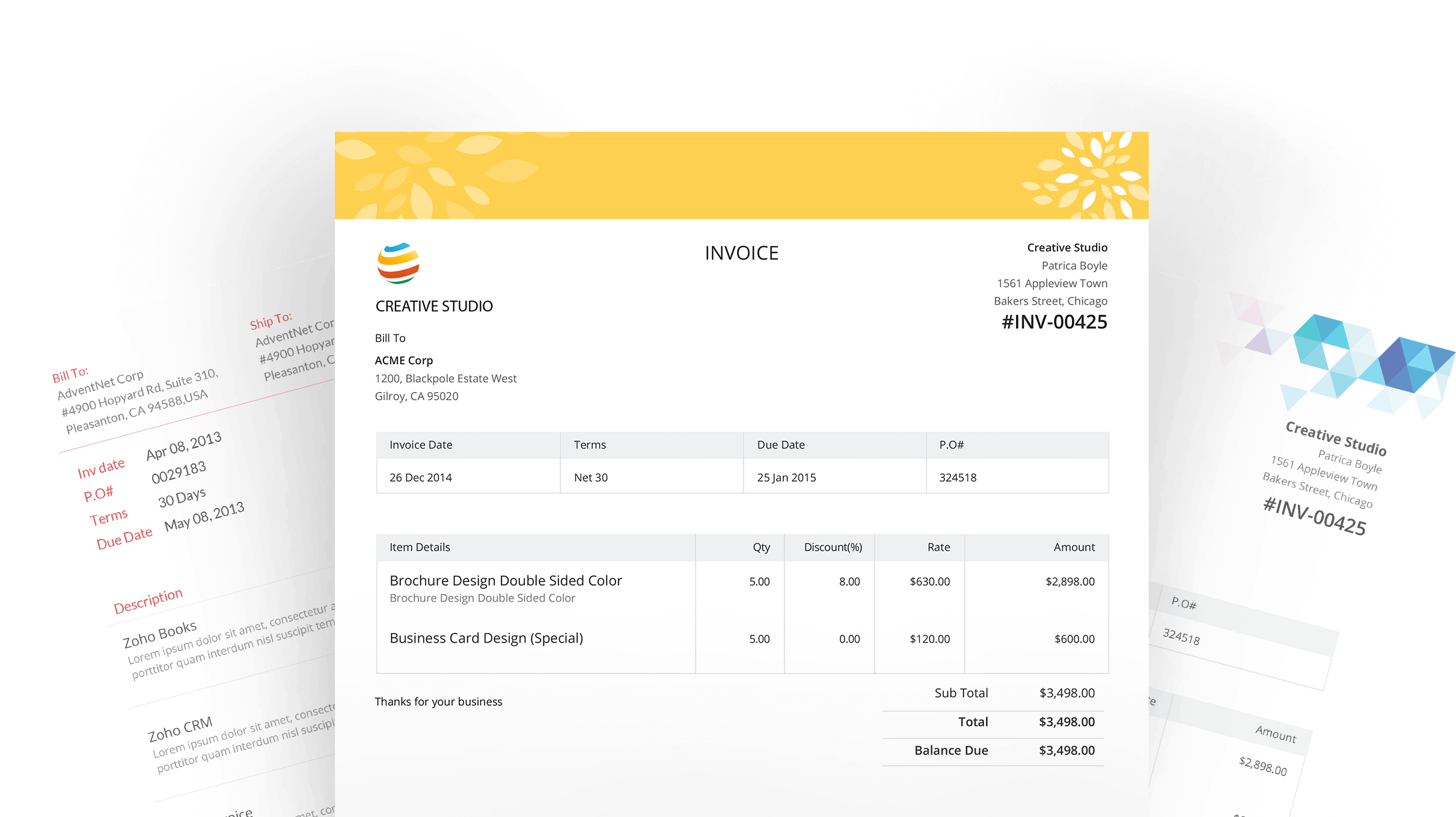 Zoho invoice template 28 images invoice template zoho for Zoho invoice download