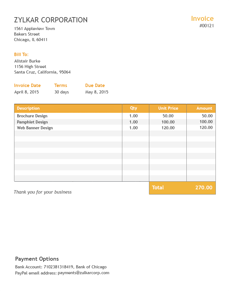 excel free invoice template  Free Excel Invoice Template - Zoho Invoice