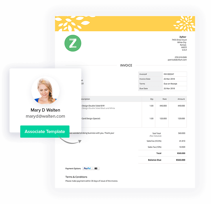 Simple Invoice Templates - Zoho Invoice