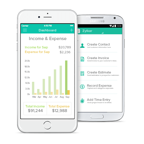 Go mobile with Zoho Invoice App