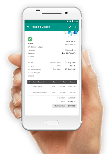 Zoho Invoice on the go !