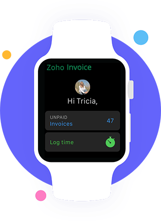 Zoho Invoice for SmartWatch