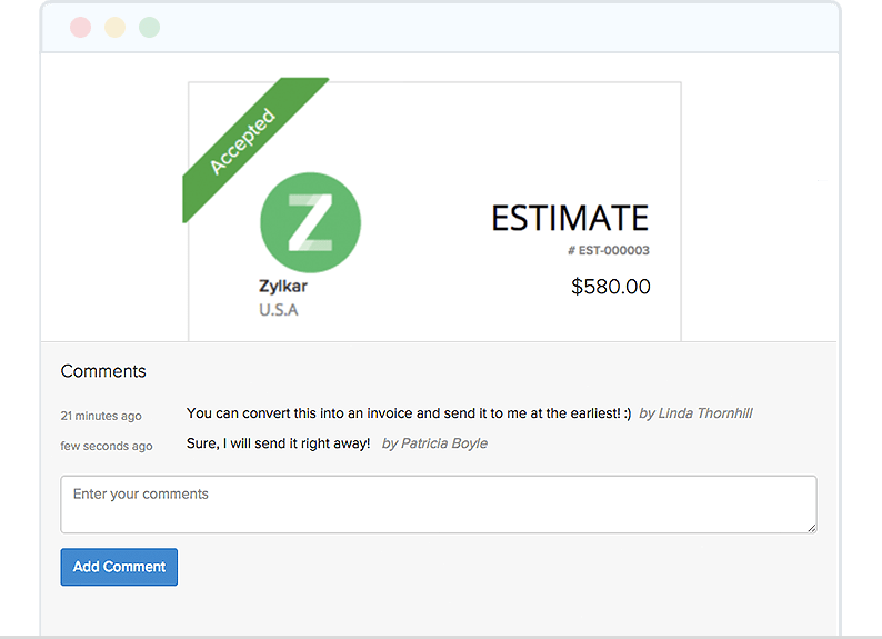 Negotiate Deals Better Through Client Portal - Zoho Invoice