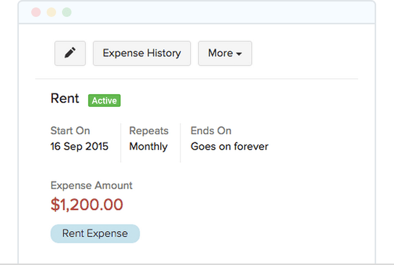 Record Recurring Expanses - Zoho Invoice