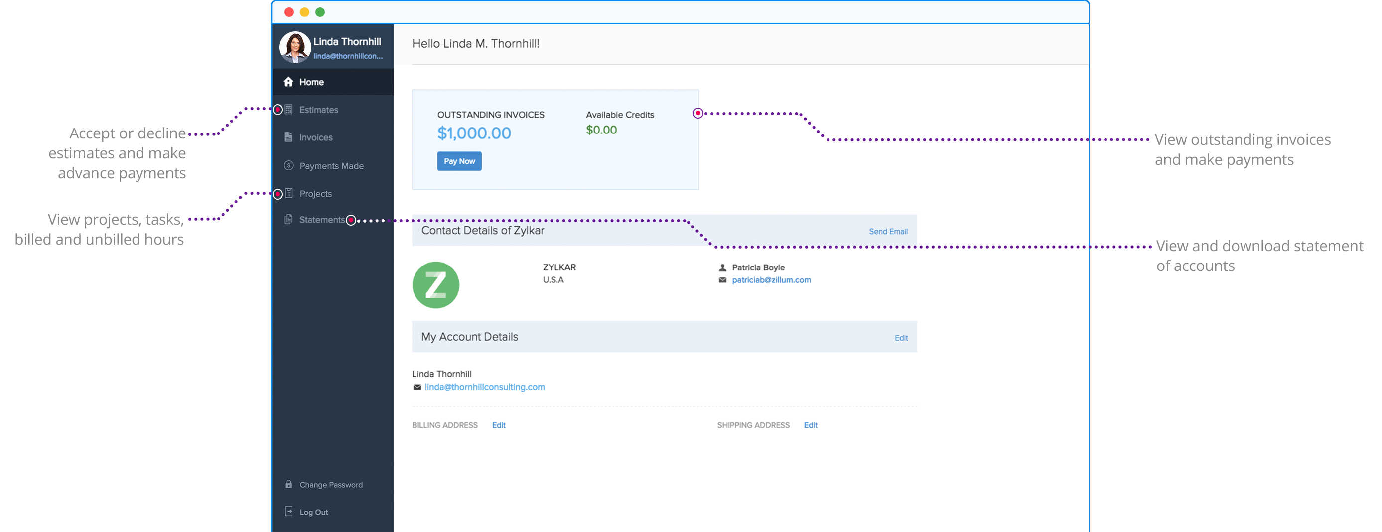 Client Portal for Customers | Zoho Invoice