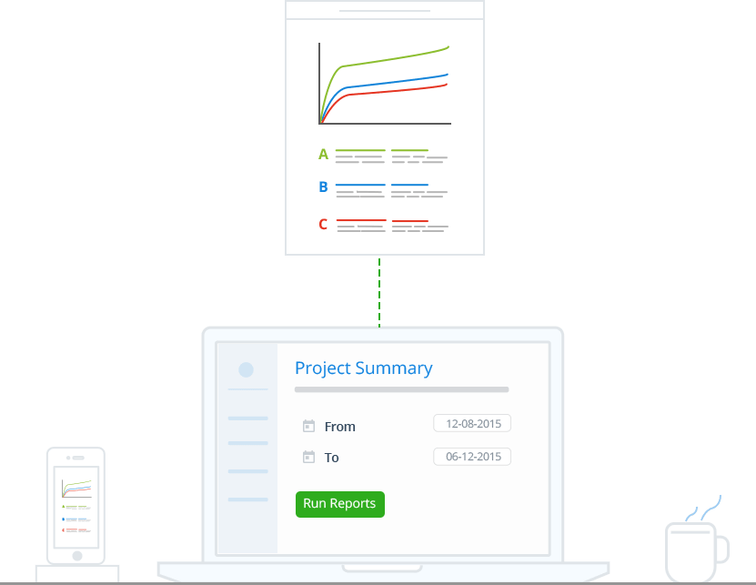 Run Reports on Projects and Manage Projects Better with Online Time Tracking Software - Zoho Invoice