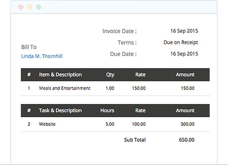 Track Time and Create Invoice Directly from Project - Zoho Invoice
