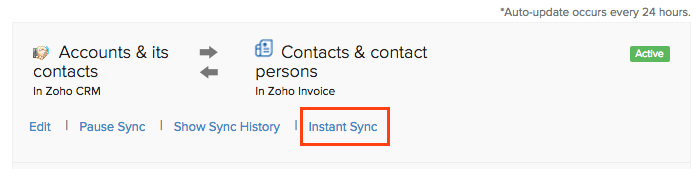 Instant Sync