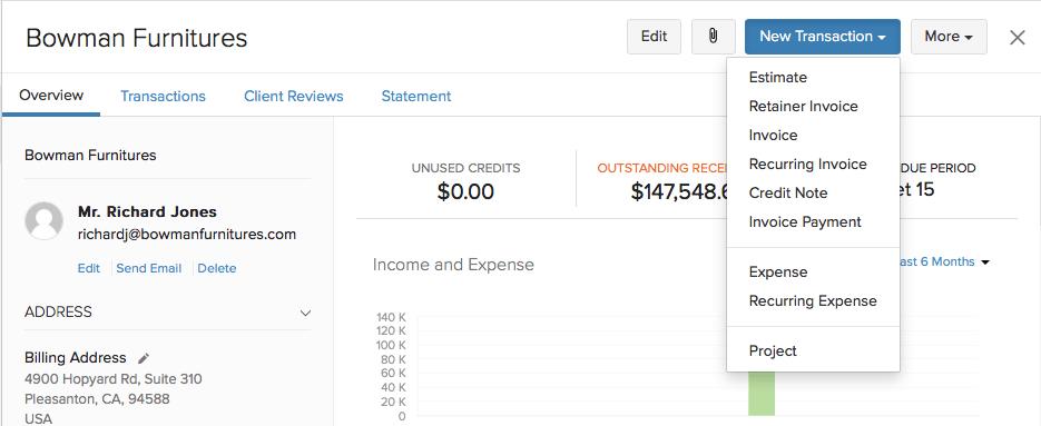 Invoice representing an opening debit balance