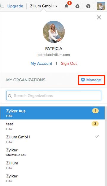 Manage Organizations