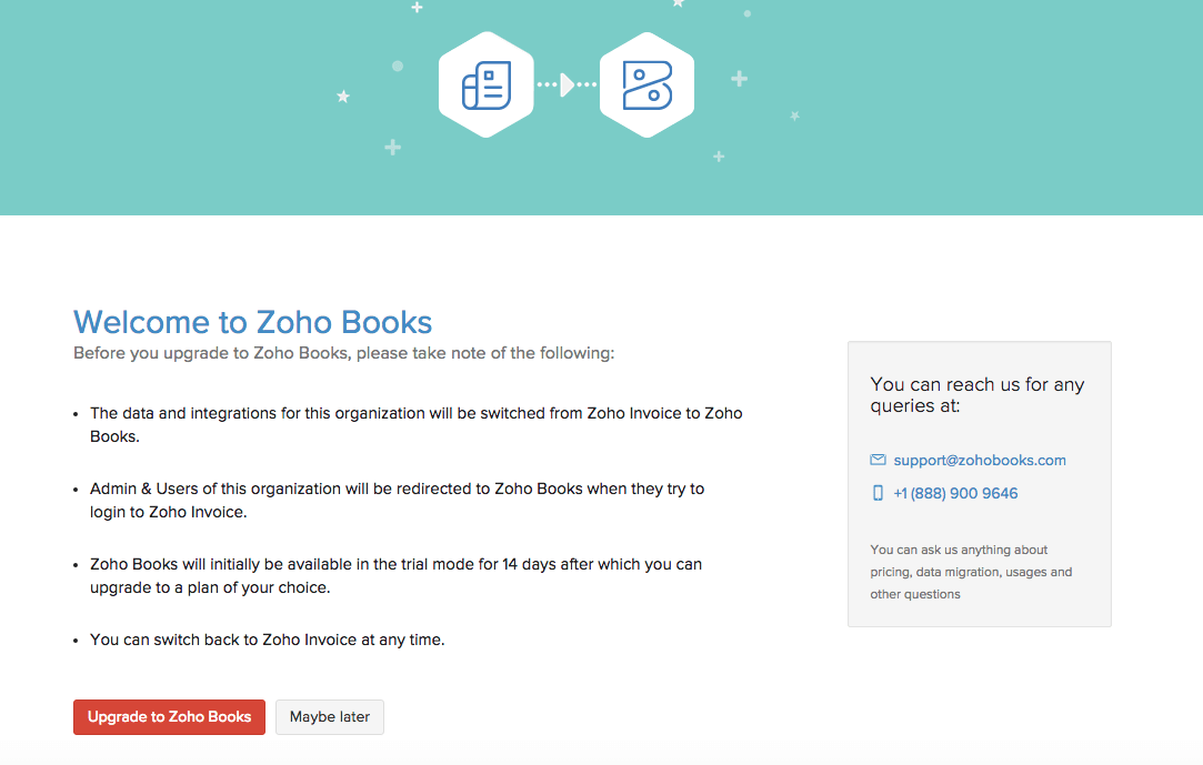 upgrade to zoho books | faq | zoho invoice, Invoice examples