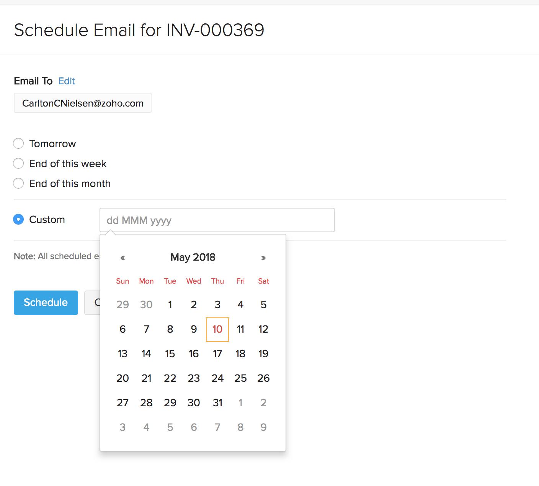 Schedule Invoice