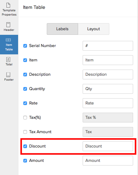 Follow these steps to enable discounts