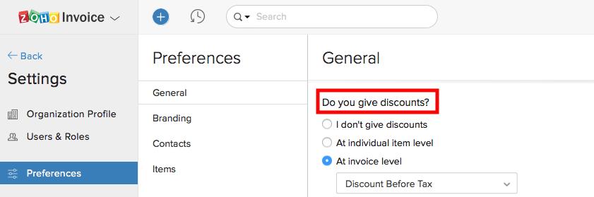 Enabling discounts