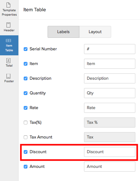 Enable discounts