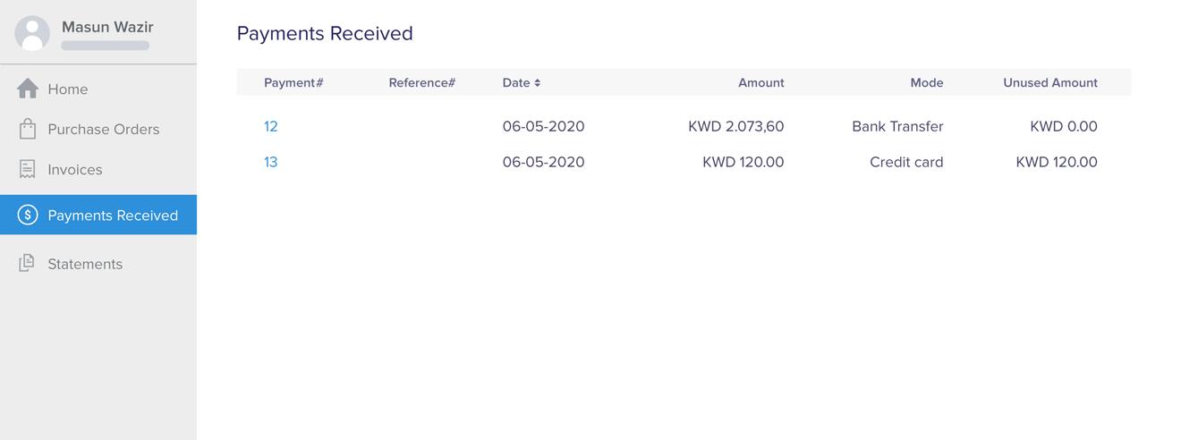 Let Vendors Check Payment Status | Zoho Books