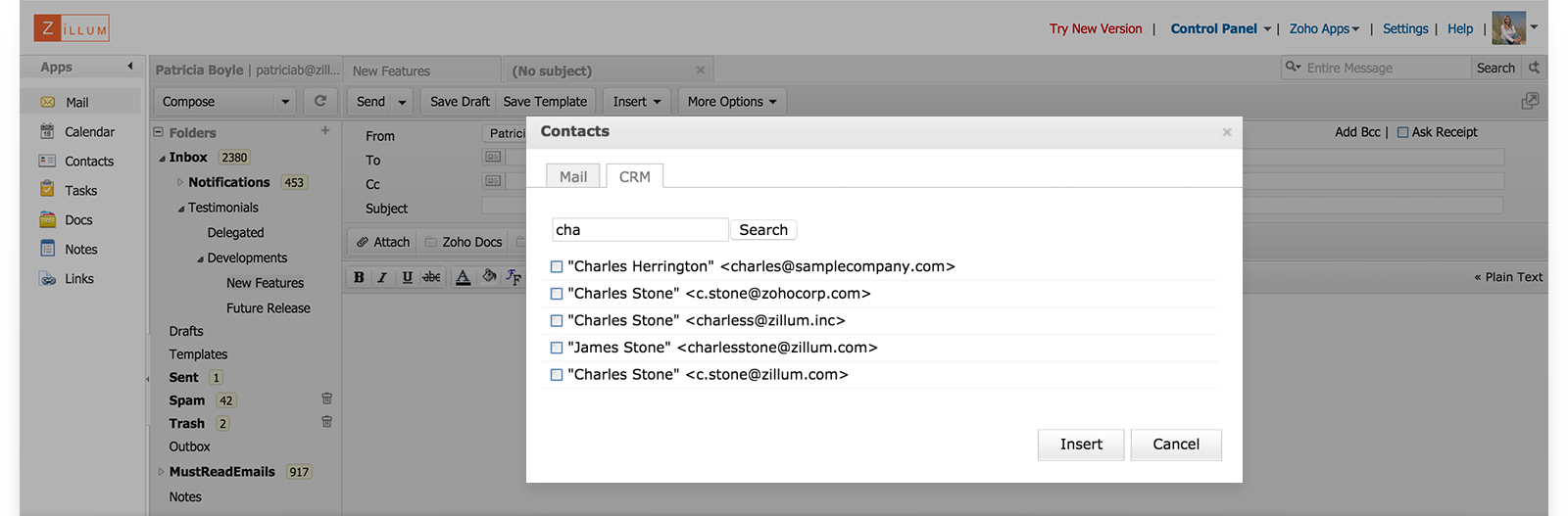 CRM inside your Inbox