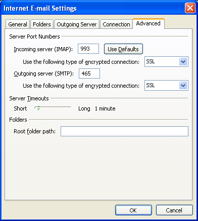 Steps to Configure Yandex Mail account as IMAP in Outlook