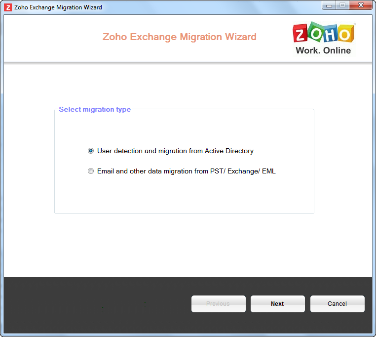 Zoho Mail - Active Directory User Discovery