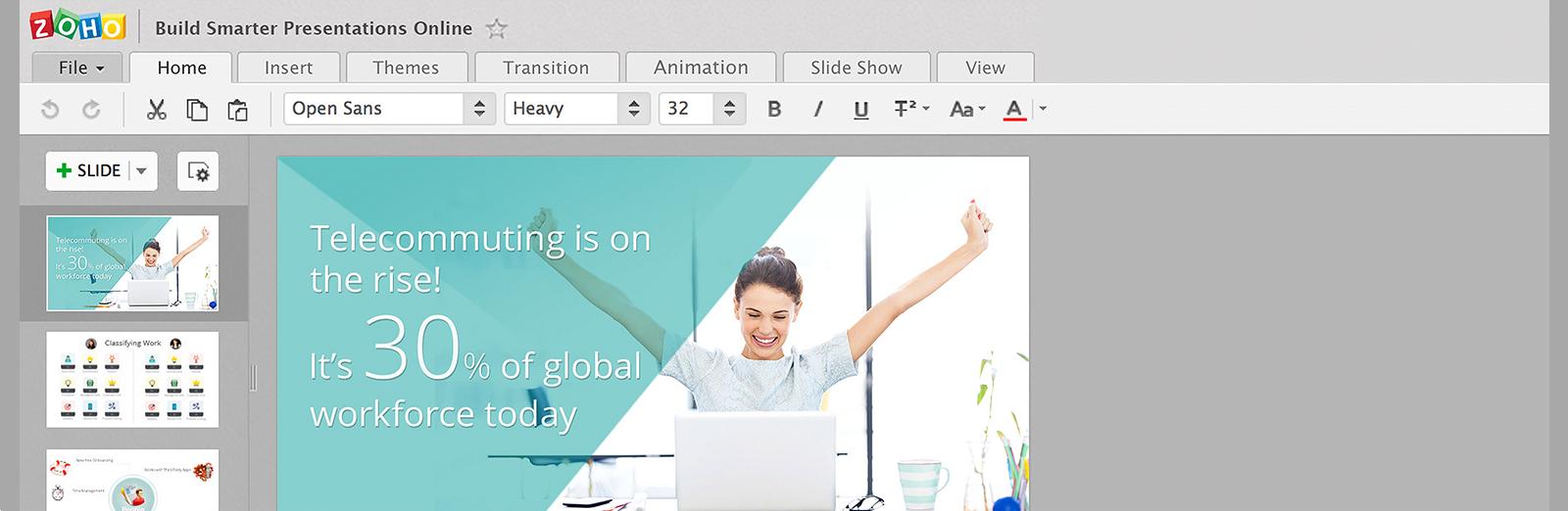 Zoho Show - Online Presentation Application