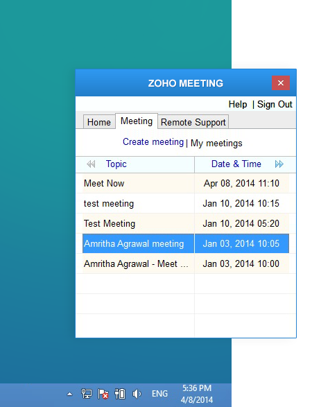 Free Web Conferencing Features Zoho Meeting