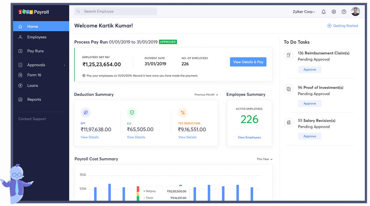 Payroll Software for India - Zoho Payroll