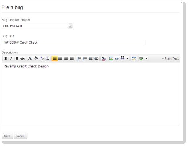 File bug details
