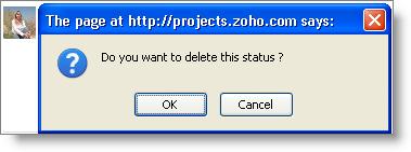 Delete status
