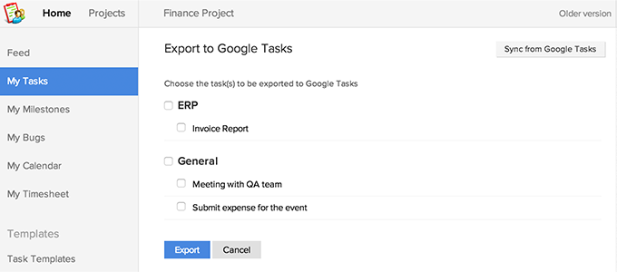 Export Google Tasks