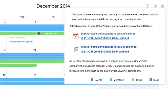 Events in Google Calendar