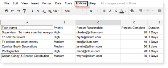 gdrive-spreadsheet