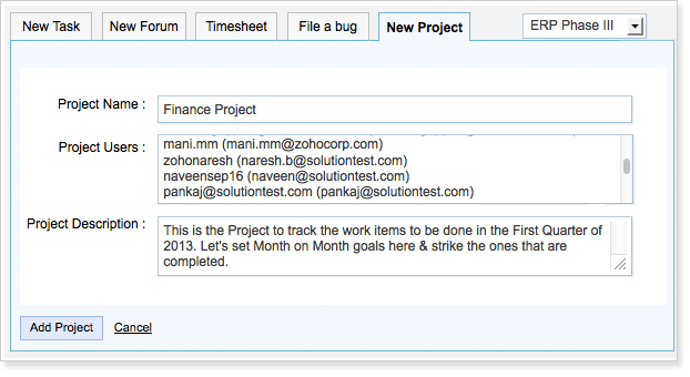 Create a project from Gmail