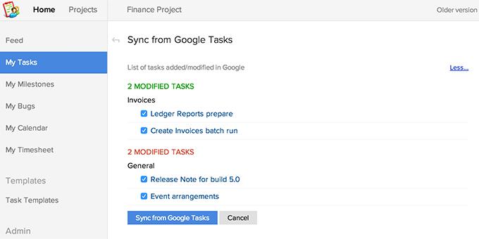 Sync Google Tasks