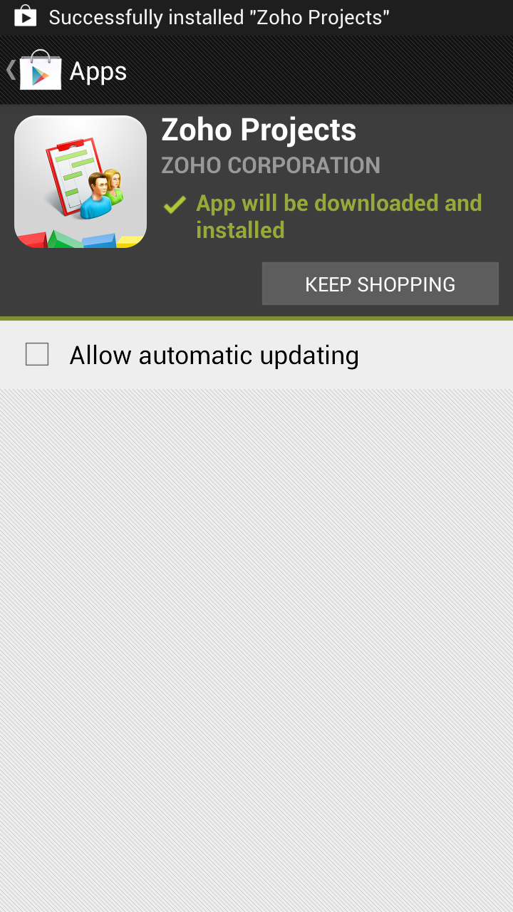 Android Successfully Installed
