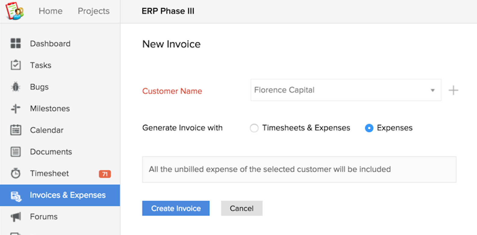 Ebitus  Pleasant Invoices And Expenses  Online Help  Zoho Projects With Outstanding Invoiceviaexpenses With Beauteous Personal Invoice Template Word Also What Is The Difference Between Invoice And Msrp In Addition Invoice Discount Terms And Example Of A Invoice As Well As Work Invoice Template Free Additionally Invoice For Work From Zohocom With Ebitus  Outstanding Invoices And Expenses  Online Help  Zoho Projects With Beauteous Invoiceviaexpenses And Pleasant Personal Invoice Template Word Also What Is The Difference Between Invoice And Msrp In Addition Invoice Discount Terms From Zohocom