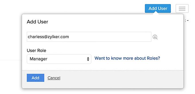 Add User link