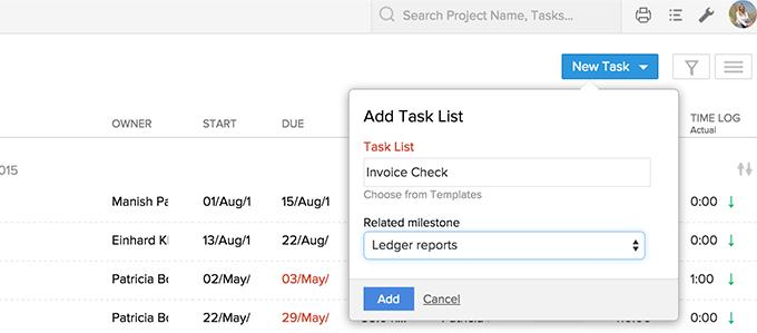 add-tasklist