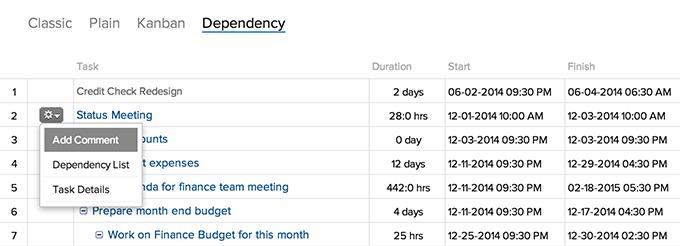 dependency-list