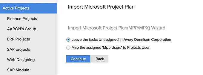 Subtasks MS projects