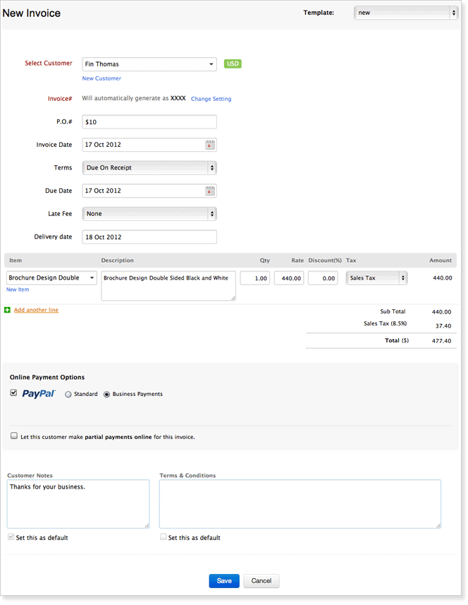 invoice software and billing tools online help zoho projects