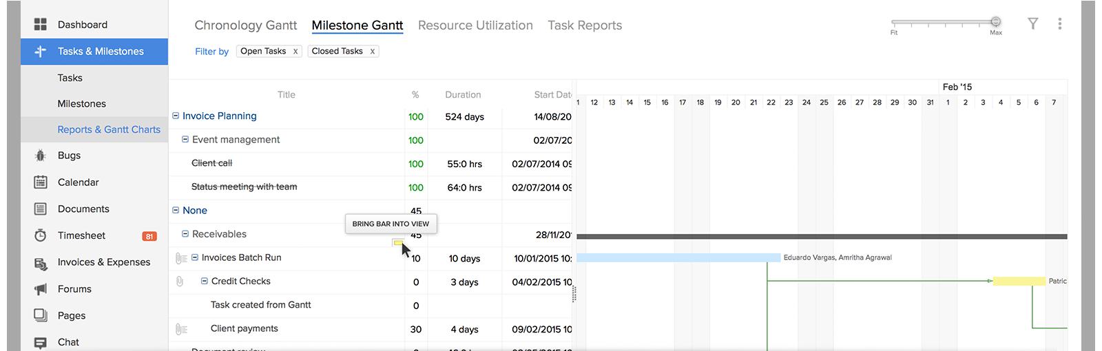 Scale Your Gantt Chart