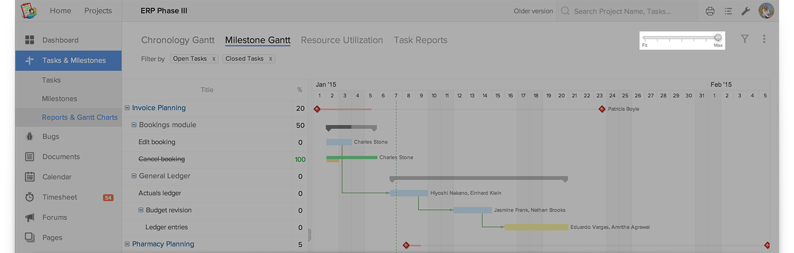 Scale Your Gantt Chart