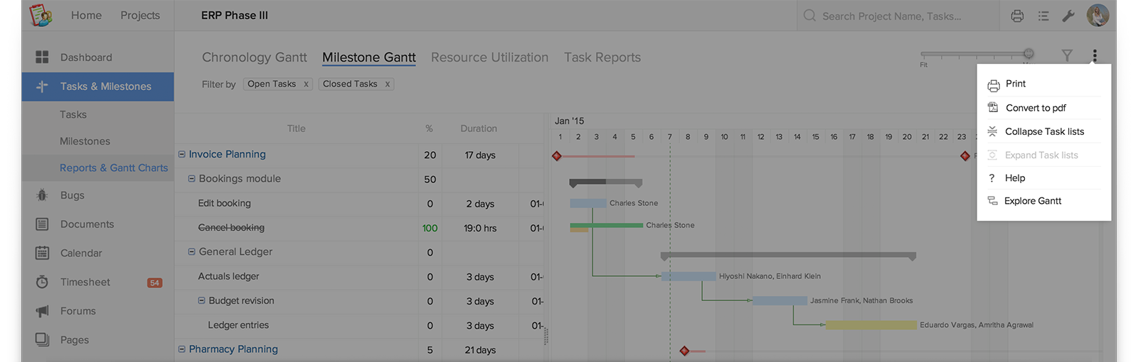 Share Your Gantt Chart