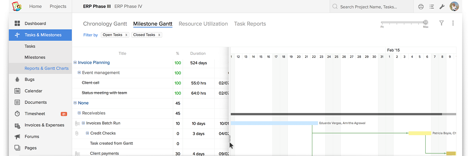 Resize Your Gantt Chart