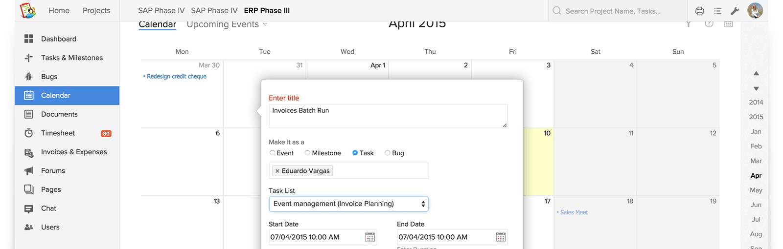 Put Tasks in Google Calendar