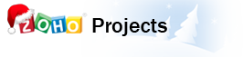 Zoho projects (Xmas logo)