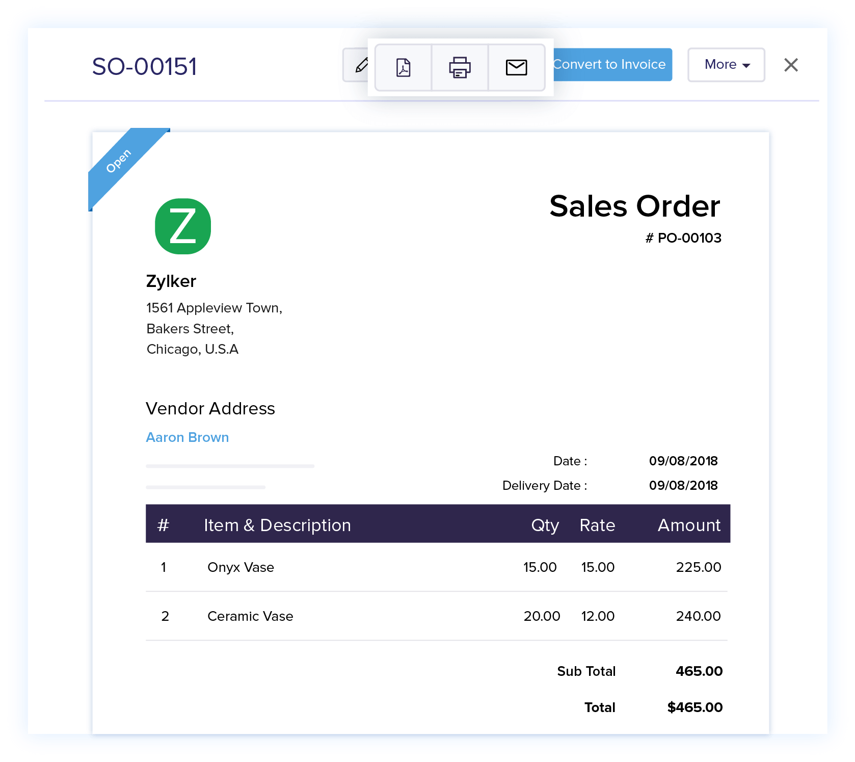 Create Copies of Sales Orders - Online Sales Order Management | Zoho Books