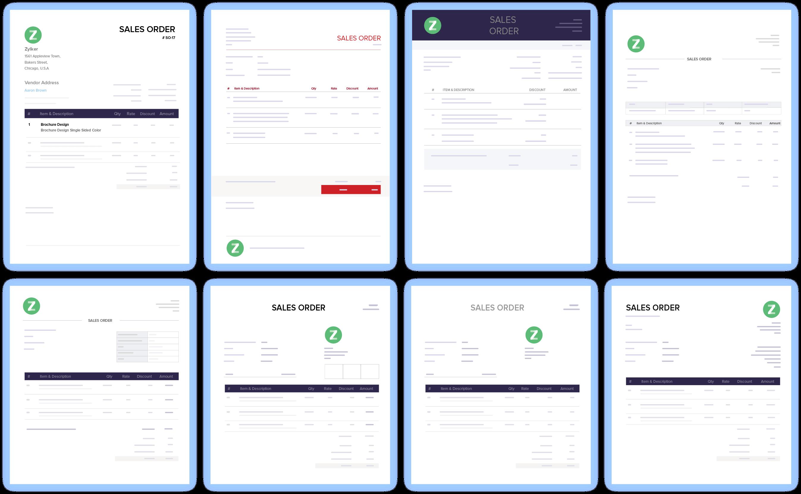Sales Order Customization - Online Sales Order System | Zoho Books