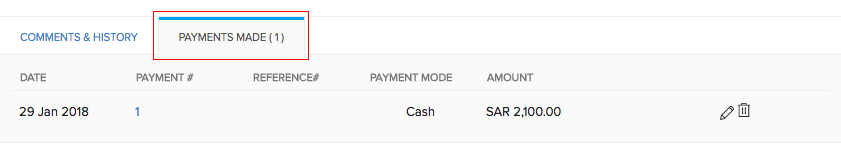 Payments made
